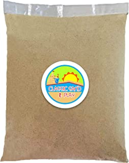 Classic Sand and Play Sand for Sandbox, Table, Therapy, and Outdoor Use, 20 lb. Bag, Natural, Non-Toxic, Wet Castle Buildi...