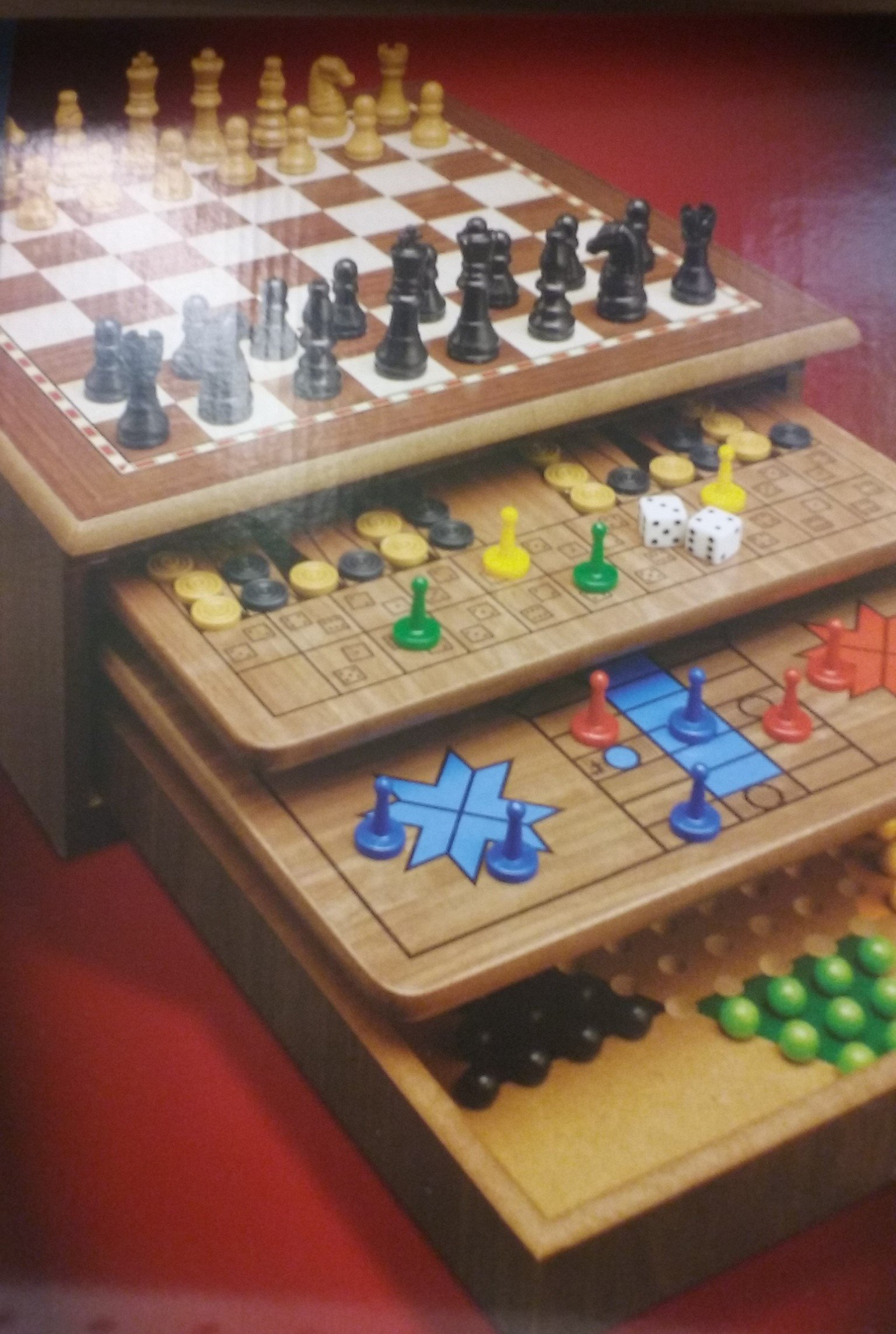CARDINAL GAMES 5F5E7A2 Super Set de Madera 10 Juegos Reunidos: Amazon.es: Juguetes y juegos
