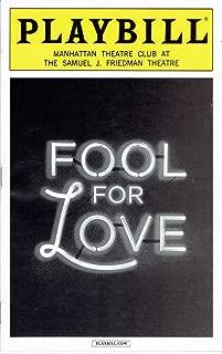 Playbill - Fool for Love - Sept 2015 - Nina Arianda and Sam Rockwell