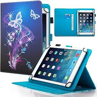 """جراب Dteck 7. 5-8. 5 بوصات عالمي مع [قلم شاشة]، جراب محفظة قابل للطي لجهاز iPad Mini/Galaxy Tab/HD 8. 9"""" /Huawei/Lenovo/LG..."""