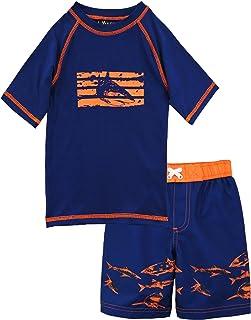 iXtreme ボーイズ シャーク 半袖ラッシュガード 水泳パンツ のセット