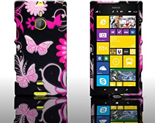 CoverON Slim Hard Case for Nokia Lumia 1520 with Cover Removal Tool - (Pink Butterfly)