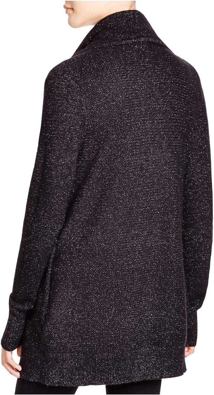 Joie Womens Black Long Sleeve Open Cardigan Sweater Size 2XS