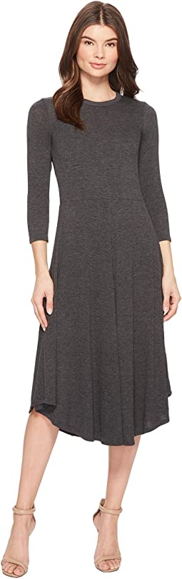 Melange Sweater 3/4 Sleeve Dress
