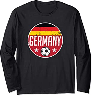 Germany Football Soccer Team Supporter Flag Jersey Berlin Long Sleeve T-Shirt