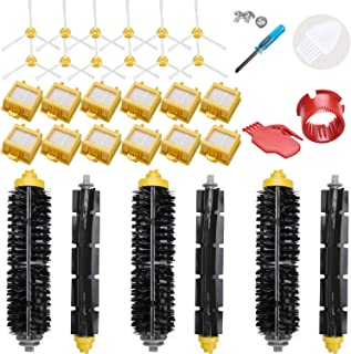 LOVECO Replacement Filter and Brush Kit for iRobot Roomba 700 Series 760 770 780 790,(Accessory Kit Include 3 Bristle and Flexible Beater Brush,12 Filter,12 Side Brush,2 Cleaning Tool)