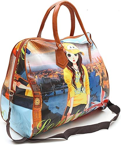 LINVILA Women s Polyester Printed Hobo Bag Hand Bag Shoulder Luggage Bag Multicolored