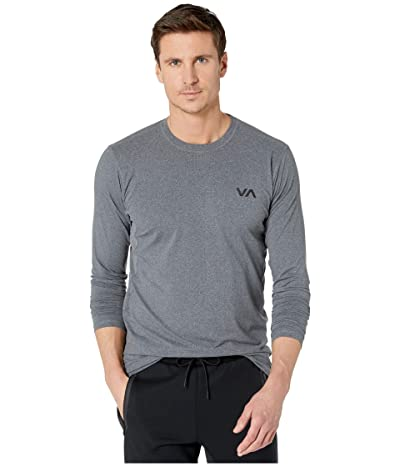 RVCA VA Sport Vent Long Sleeve Top (Charcoal Heather) Men