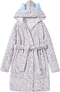 Leopard Cat Robe for Girls Fleece Toddler Kids Teen...
