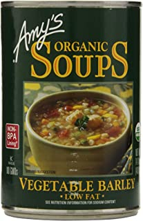 Amy's Organic Soups, Low Fat Vegetable Barley, 14.1 Ounce (Pack of 6)