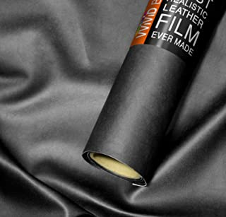 VViViD Bycast65 Black Matte Top-Grain Faux Leather Marine Vinyl Fabric (25 Foot by 54 Inch)
