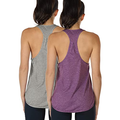 size 40 613dc c027f icyzone Workout Tank Tops for Women - Athletic Yoga Tops, Racerback Running  Tank Top