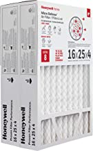 Honeywell Home MicroDefense AC Furnace Air Filter 16 x 25 x 4 MERV 8 (2 pk)