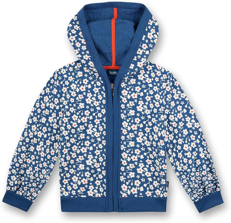 Sanetta Sweatjacket Blau Sudadera con Capucha para Ni/ñas