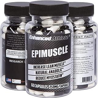 Enhanced Athlete Epimuscle - Natural Anabolic, Increase Lean Mass, Reduce Myostatin, 250mg Pure Epicatechin/ 60 Capsules