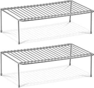 DecorRack 2 Counter and Cabinet Shelf Racks, Kitchen Storage Organizer, Steel Metal Wire Shelves for Pantry, Closet and Fr...