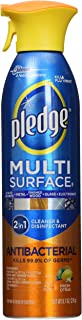 Pledge Multi Surface Antibacterial Cleaner Antibacterial Citrus Scent Aerosol Can 9.7 Oz