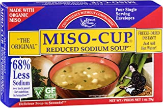Edward And Sons Organic Reduced Sodium Miso Cup Soup, 1 Ounce -- 12 per case.