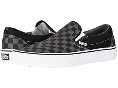 Vans Classic Slip-Ontm Core Classics ((Checkerboard) Black/Pewter) Shoes