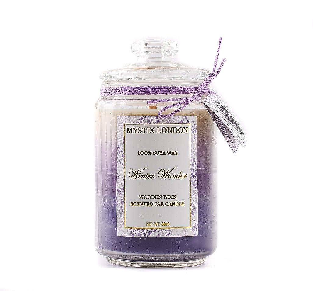 テーマ見る人省略するMystix London | Winter Wonder Wooden Wick Scented Jar Candle 440g