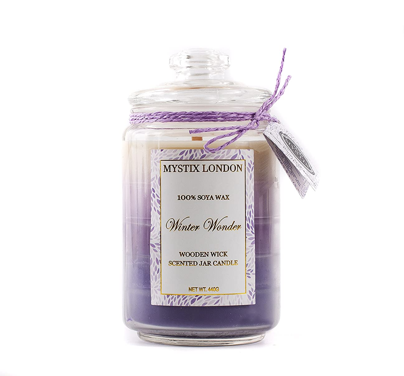 キロメートル誕生日明らかにMystix London | Winter Wonder Wooden Wick Scented Jar Candle 440g