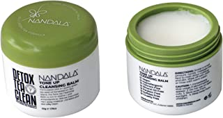 NANDALA, Tone Up Cleansing Balm, DETOX Tea Clean, Green Tea Seed Oil from Jeju Island, Antioxidants & Vitamins to tackle impurities and grime, Coconut Oil, Castor Oil, Travel friendly, 50g