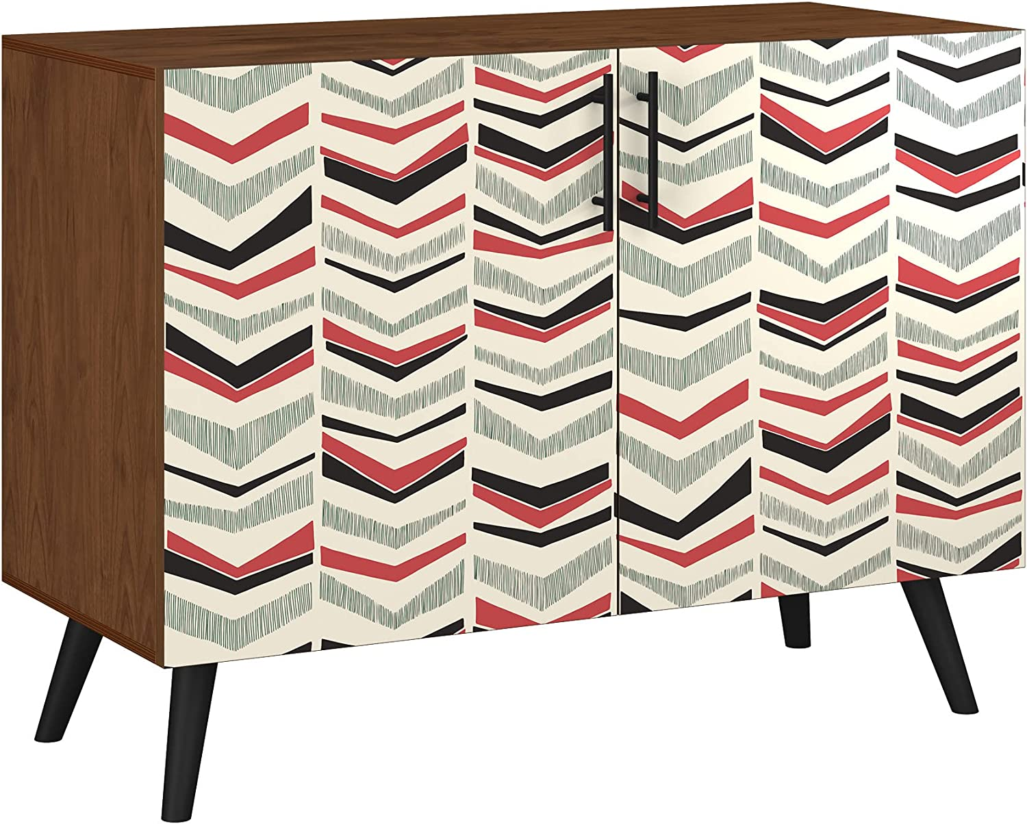 Poppy Indefinitely Credenza - Walnut Sadie Design Base 5 11 in Colors Style New Orleans Mall