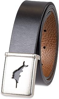 Tommy Bahama Men's Plaque Buckle Belt