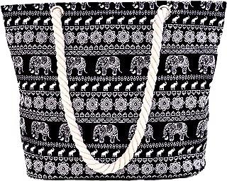 Women Beach Tote Canvas Shoulder Bag Anchor Summer Handbag Top Handle Bag Straw Beach Bag
