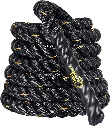 Display4top Corde de Bataille 9m/12m/15m Corde Entrainement Corde de Fitness Bataille Ondulatoire pour la Musculation...