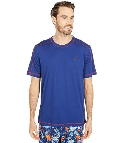 Tommy Bahama Crew Neck Lounge T-Shirt (Twilight Blue) Men