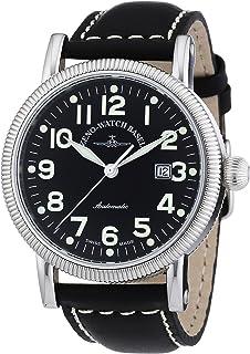 Zeno Watch Basel - Nostalgia 98079-a1 - Reloj de Caballero automático, Correa de Piel Color Negro
