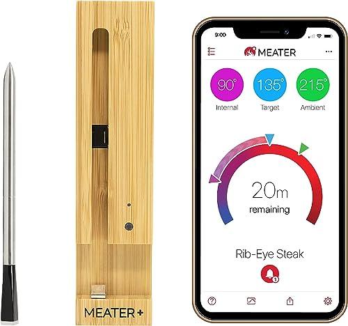 MEATER Plus   Termometro Bluetooth Fino a 50 Metri a Sonda Senza Fili Per Forno, Grigliate, Barbecue. App in Italiano...