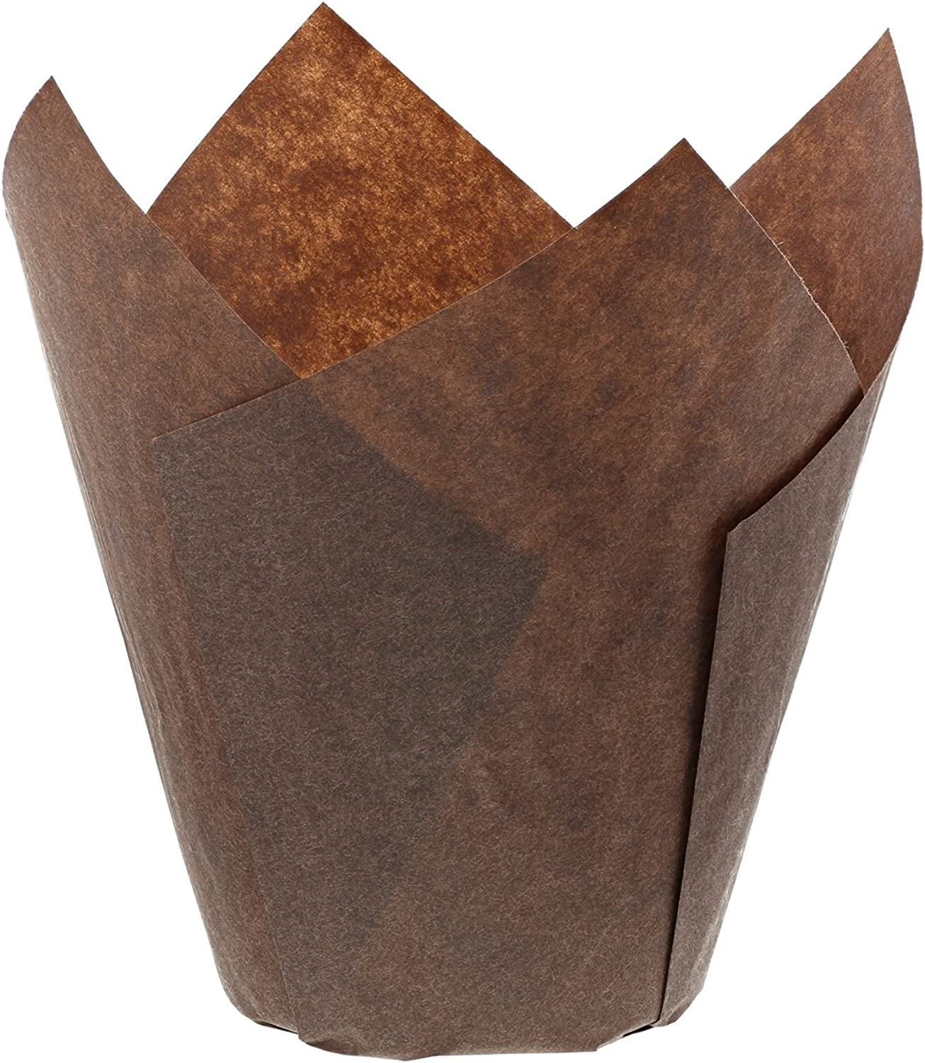 Royal Brown Tulip Style Baking Cups, Large, Case of 2000