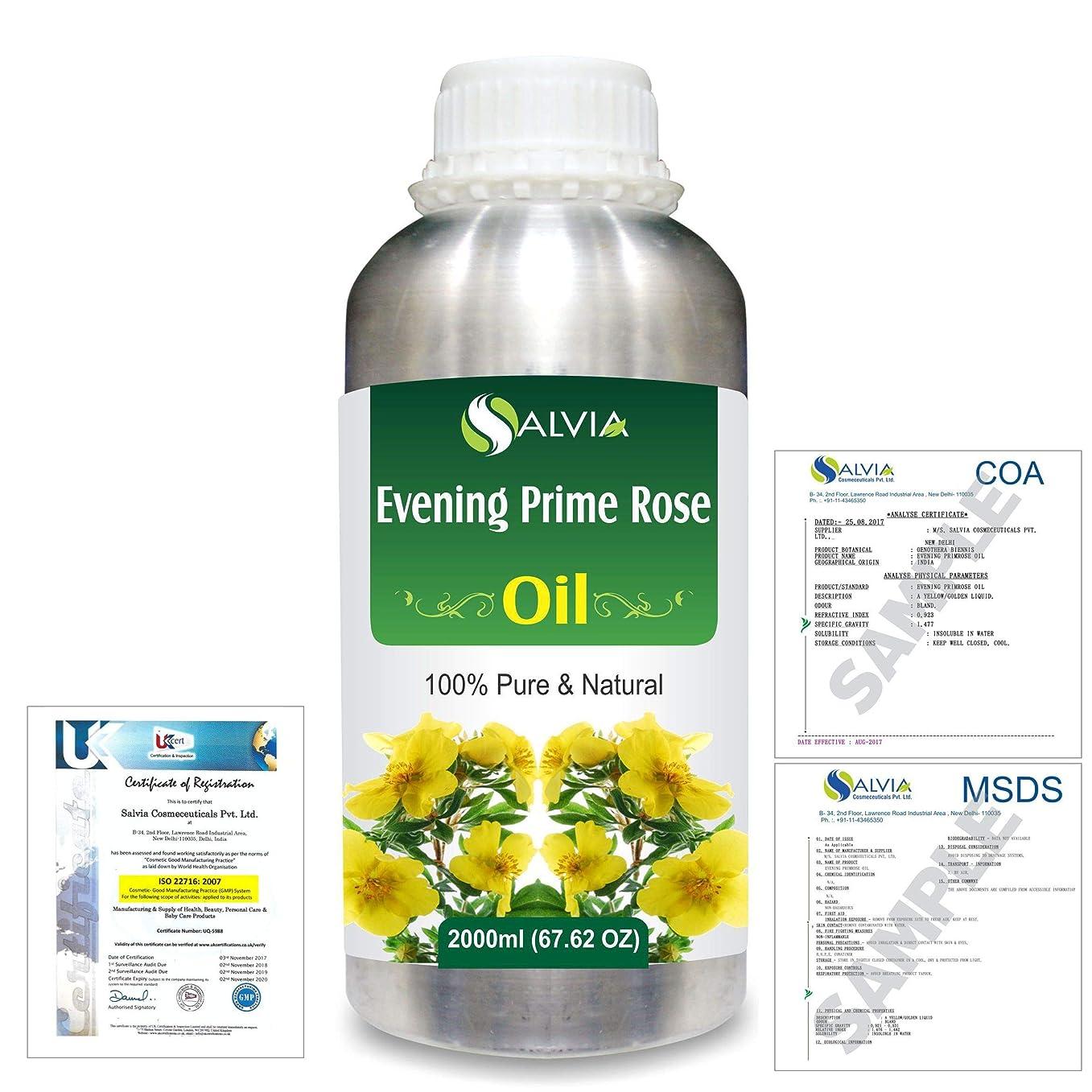 線形パドル拷問Evening Prime rose 100% Natural Pure Essential Oil 2000ml/67 fl.oz.
