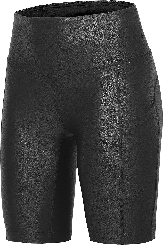 RUFIYO Women's Biker Shorts with High Waist Bike Pockets Brand new Regular discount