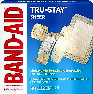 باندهای باند Tru-Stay Sheer Strips باند باند برای کمک به مراقبت های اولیه و زخم ، همه یک اندازه ، 80 سی تی