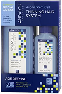 Andalou Naturals Age Defying Hair Thinning Treatment System 3 Piece Kit