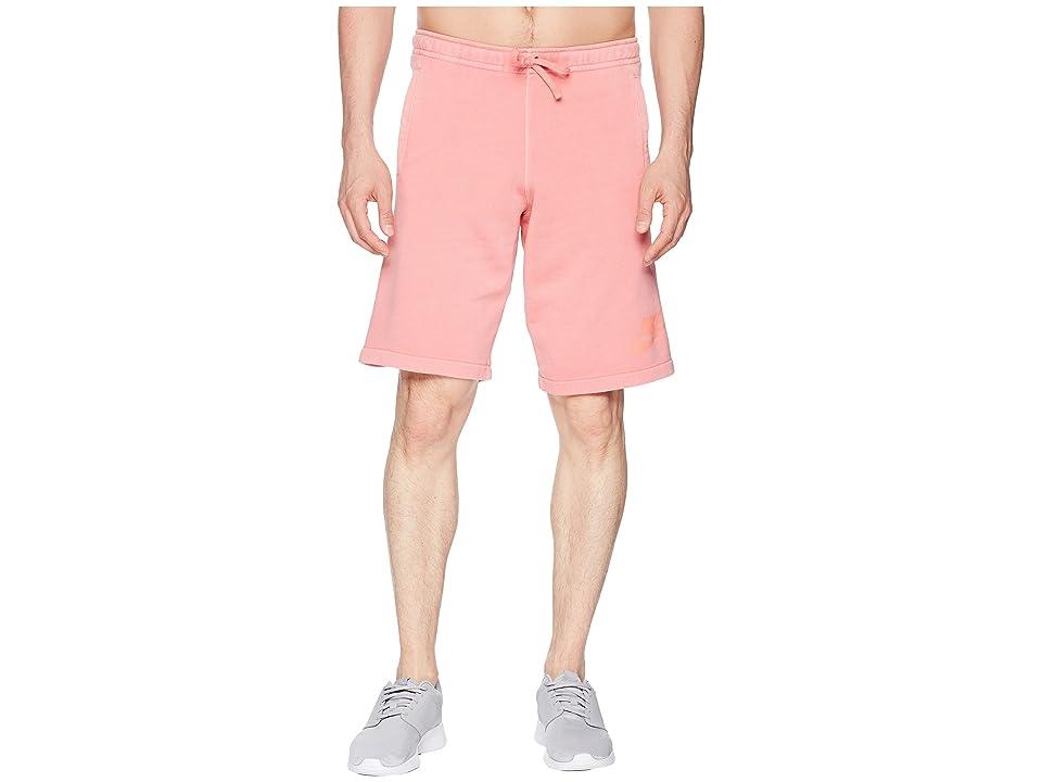 Nike NSW Shorts French Terry Wash HBR (Sea Coral/Sunblush/White) Men