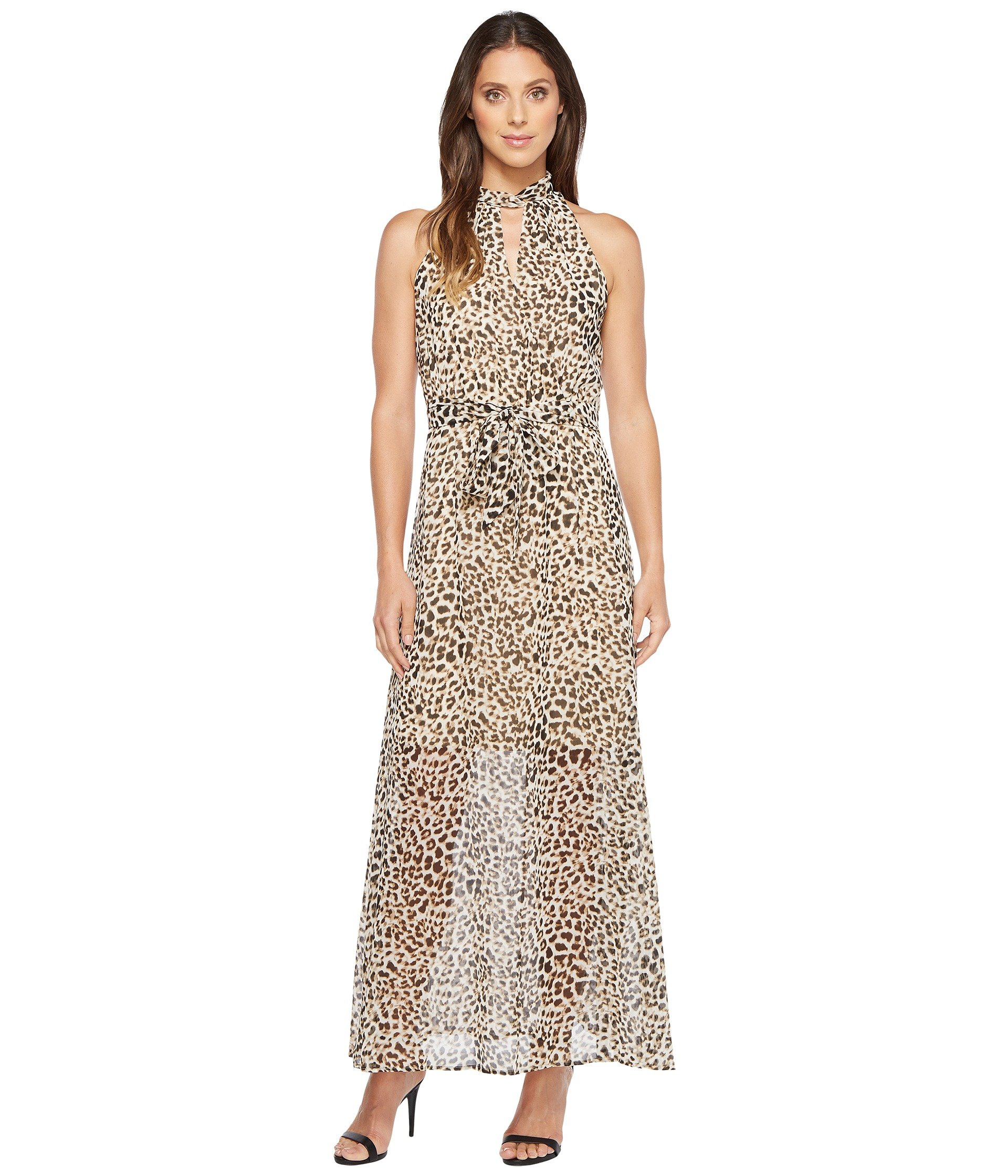Printed Maxi With Tie Belt, Leopard