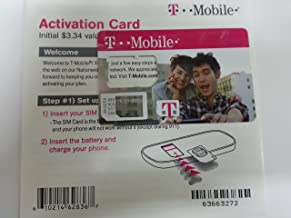 T-Mobile NANO SIM Card (CUSTOM CUT) with Prepaid Activation Kit
