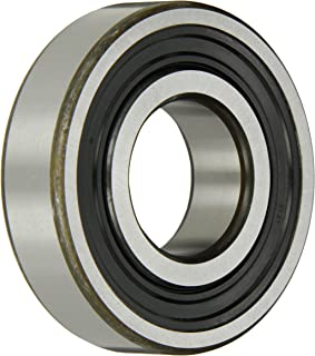SKF 6307-2RS1/C3 Radial Bearing, Single Row, Deep Groove Design, ABEC 1 Precision, Double Sealed, Contact, C3 Clearance, Standard Cage, 35mm Bore, 80mm OD, 21mm Width