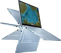 لپ تاپ Chromebook Flip C433 2 در 1 ASUS ، صفحه نمایش 14 اینچ لمسی FHD NanoEdge ، پردازنده Intel Core m3-8100Y ، 8 گیگابایت رم ، 64 گیگابایت eMMC ذخیره سازی ، صفحه کلید دارای نور پس زمینه ، نقره ای ، سیستم عامل Chrome ، C433TA-AS384T