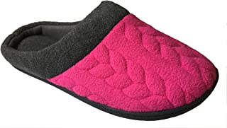 Women's Quilted Fleece Clog Memory Foam Slipper