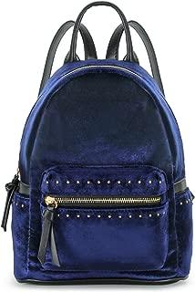 blue velvet backpack