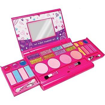 Mi primer set de maquillaje, kit de maquillaje para niñas, paleta de maquillaje desplegable con espejo y cierre de seguridad - Seguridad Comprobada - No Tóxico (Diseño original): Amazon.es: Juguetes y juegos