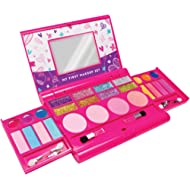 My First Makeup Set, Girls Makeup Kit, Fold Out Makeup Palette with Mirror and Secure Close -...
