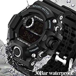 Wdnba Mens Watch Quartz Watches Military Watch Fashion Dive Mens Sport LED Digital Watch