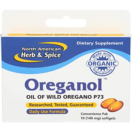 North American Herb Spice Oreganol P73 Convenience Pack 10 Count Health Personal Care