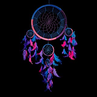 "Caught Dreams Dream Catcher Traditional Indian Wall Art | Delicate Design | Vibrant Colors | Ideal Dimensions 10.5"" x 27"" 